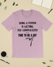 Time to be a cat Classic T-Shirt lifestyle-mens-crewneck-front-19