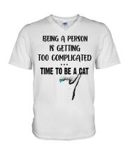 Time to be a cat V-Neck T-Shirt thumbnail