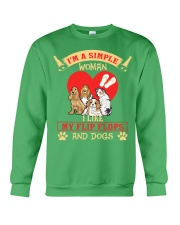 Simple Woman Flip FLops And Dogs Crewneck Sweatshirt thumbnail