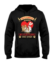 Simple Woman Flip FLops And Dogs Hooded Sweatshirt thumbnail