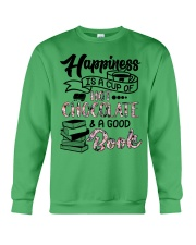 A cup of hot chocolate and a good book Crewneck Sweatshirt thumbnail