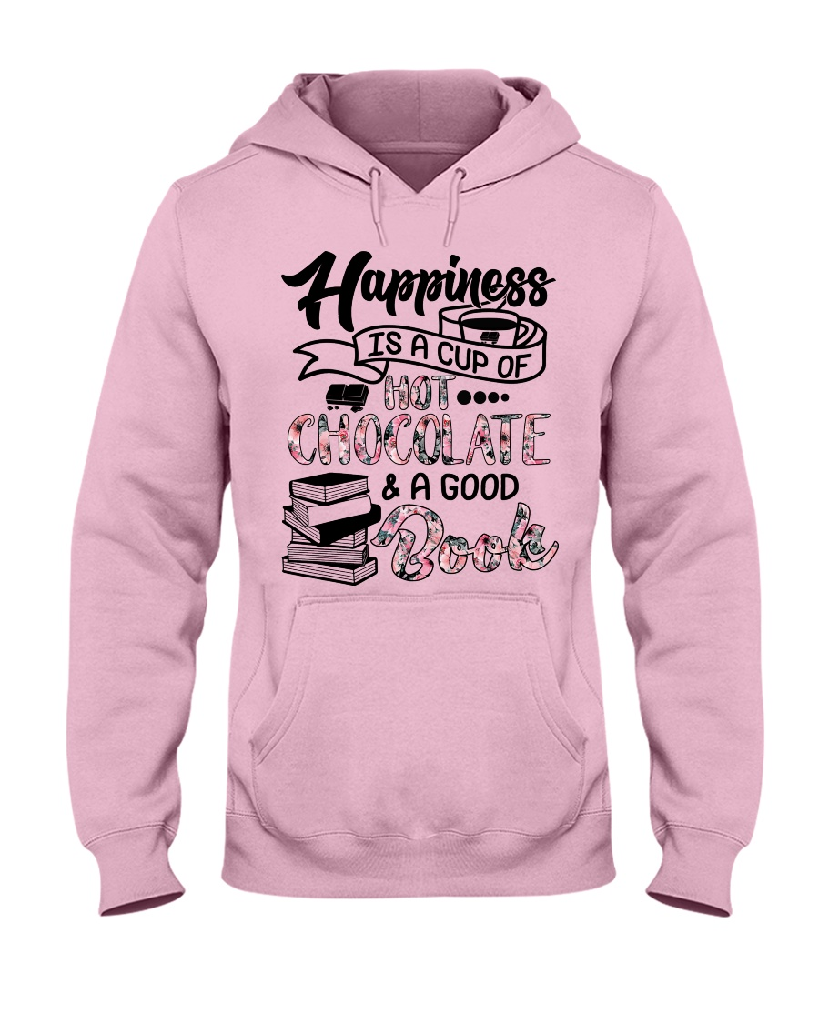 A cup of hot chocolate and a good book Hooded Sweatshirt