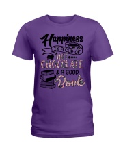 A cup of hot chocolate and a good book Ladies T-Shirt thumbnail