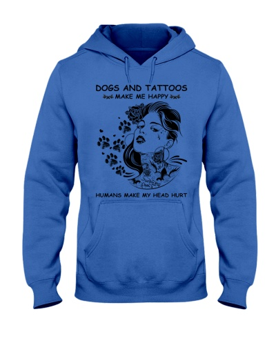 Dogs and tattoos make me happy humans head hurt