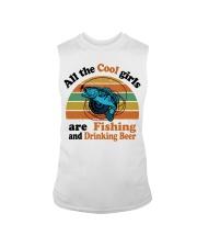 Cool Girls Are Fishing Drinking Beer Sleeveless Tee thumbnail