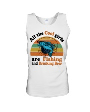 Cool Girls Are Fishing Drinking Beer Unisex Tank thumbnail