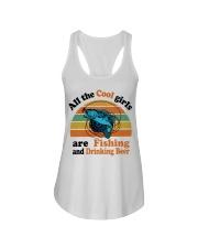 Cool Girls Are Fishing Drinking Beer Ladies Flowy Tank thumbnail