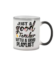 Just a good Teacher with a hood playlist Color Changing Mug thumbnail