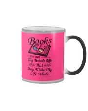 Books Are Not My Whole Life Color Changing Mug thumbnail
