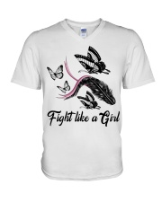 Fight Like A Girl V-Neck T-Shirt thumbnail