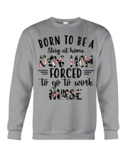 Born to be stay at home dog mom  Crewneck Sweatshirt tile