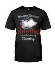 Reading With A Chance Of Sleeping Classic T-Shirt front