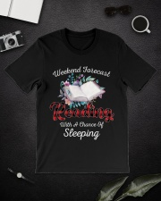 Reading With A Chance Of Sleeping Classic T-Shirt lifestyle-mens-crewneck-front-16