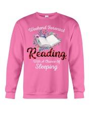 Reading With A Chance Of Sleeping Crewneck Sweatshirt thumbnail