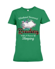 Reading With A Chance Of Sleeping Premium Fit Ladies Tee thumbnail