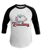 Reading With A Chance Of Sleeping Baseball Tee thumbnail