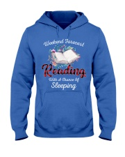 Reading With A Chance Of Sleeping Hooded Sweatshirt thumbnail