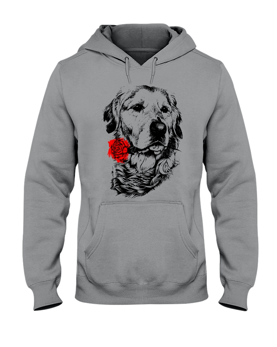 Cute Golden with Rose Hooded Sweatshirt