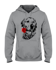 Cute Golden with Rose Hooded Sweatshirt front