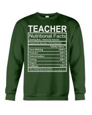 Teacher Nutritional Facts Crewneck Sweatshirt thumbnail