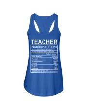 Teacher Nutritional Facts Ladies Flowy Tank thumbnail
