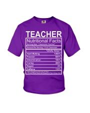 Teacher Nutritional Facts Youth T-Shirt thumbnail