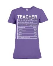 Teacher Nutritional Facts Premium Fit Ladies Tee thumbnail