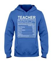 Teacher Nutritional Facts Hooded Sweatshirt thumbnail