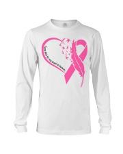 I wear pink for my angel in heaven Long Sleeve Tee tile
