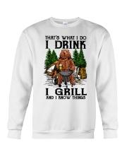 I Grill And I Know Things Crewneck Sweatshirt thumbnail