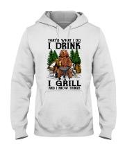I Grill And I Know Things Hooded Sweatshirt thumbnail