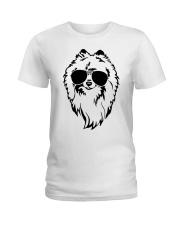 Cute Pomeranian Ladies T-Shirt tile