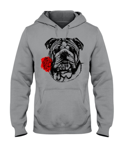 Cute Bully with Rose