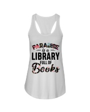 Paradise Is A Library Full Of Books Ladies Flowy Tank thumbnail