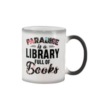 Paradise Is A Library Full Of Books Color Changing Mug thumbnail