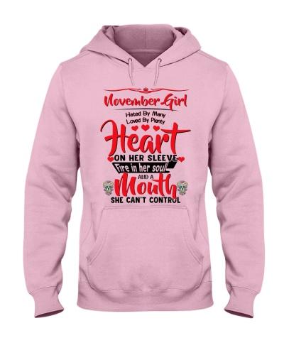 November girl hate by many love plenty heart mouth