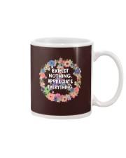 Expect Nothing Appreciate Everything Mug thumbnail