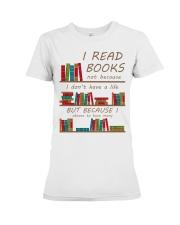 I read books  Premium Fit Ladies Tee thumbnail