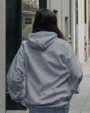 Cute Doberman with Rose Hooded Sweatshirt lifestyle-unisex-hoodie-back-2