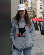Cute Doberman with Rose Hooded Sweatshirt lifestyle-unisex-hoodie-front-5