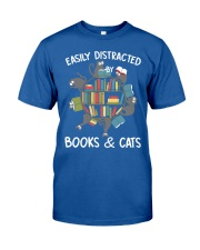 Easily Distracted By Books And Cats Classic T-Shirt tile
