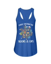 Easily Distracted By Books And Cats Ladies Flowy Tank thumbnail