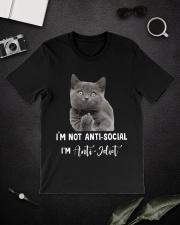 I'm anti idiot  Classic T-Shirt lifestyle-mens-crewneck-front-16