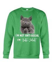 I'm anti idiot  Crewneck Sweatshirt thumbnail