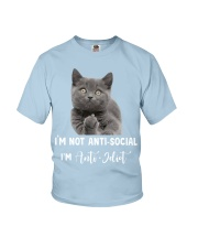 I'm anti idiot  Youth T-Shirt thumbnail