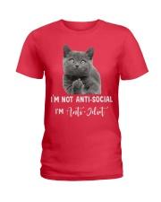 I'm anti idiot  Ladies T-Shirt thumbnail