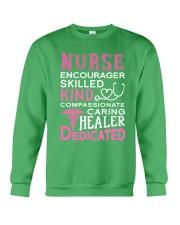 Nurse Encourager Kind Healer Dedicated Crewneck Sweatshirt thumbnail