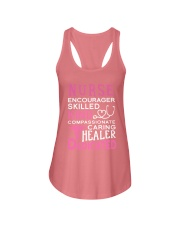 Nurse Encourager Kind Healer Dedicated Ladies Flowy Tank thumbnail