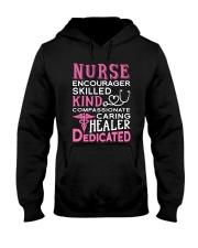 Nurse Encourager Kind Healer Dedicated Hooded Sweatshirt thumbnail