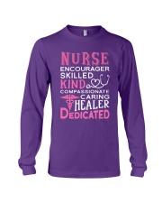Nurse Encourager Kind Healer Dedicated Long Sleeve Tee thumbnail